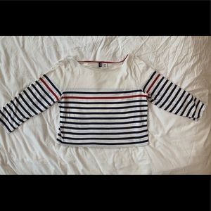 Tops - Urban outfitters BDG striped crop top 3/4 sleeve